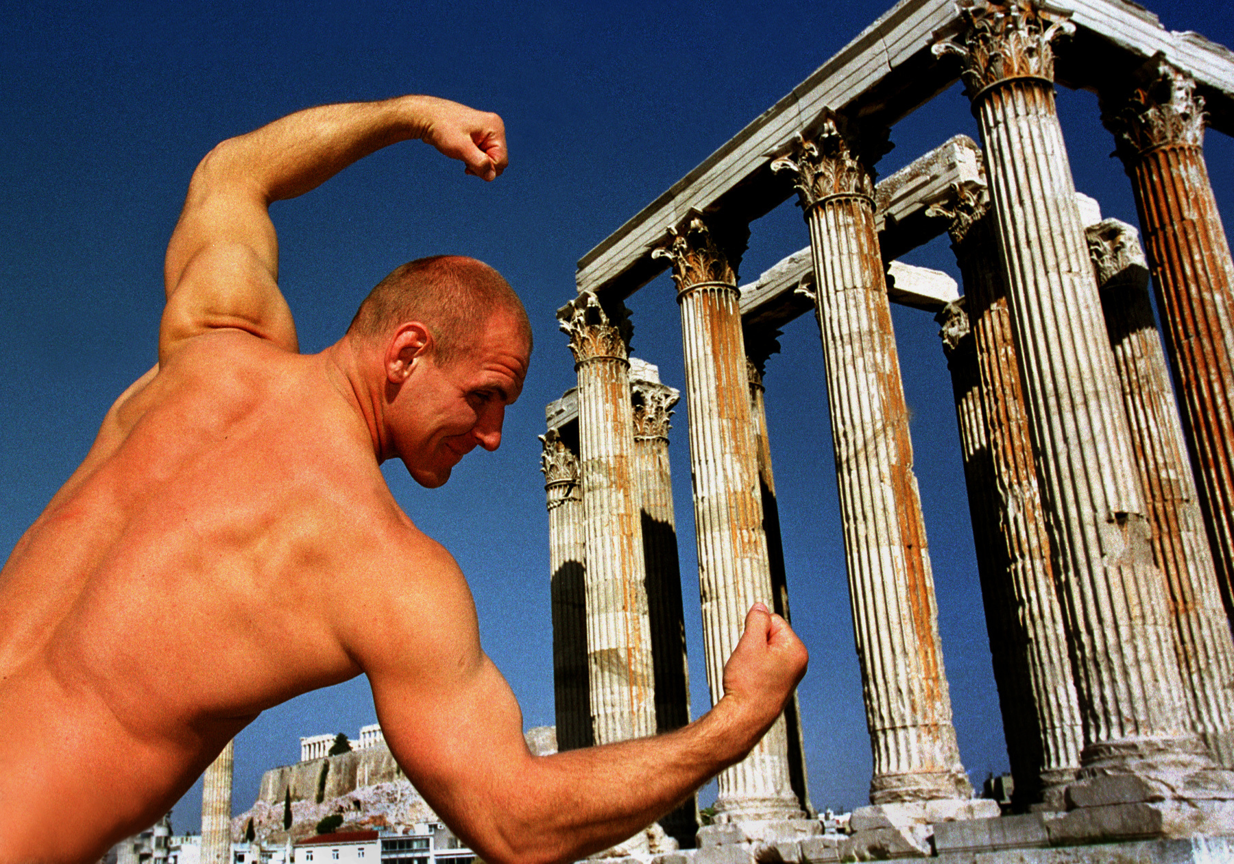 Athens, (Greece). 1999. Alexander Karelin-three-time Olympic champion.